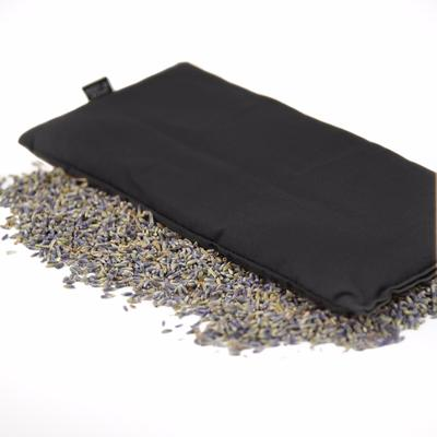 Black Hot or Cold Herbal Eye Pillow with soothing aroma of lavender & organic flax seed