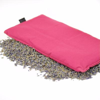 Hot or Cold Herbal Eye Pillow in Pink Color with soothing aroma of lavender & organic flax seed