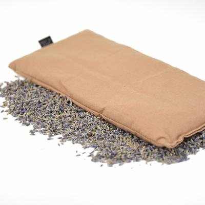 Natural color Hot or Cold Herbal Eye Pillow with soothing aroma of lavender & organic flax seed