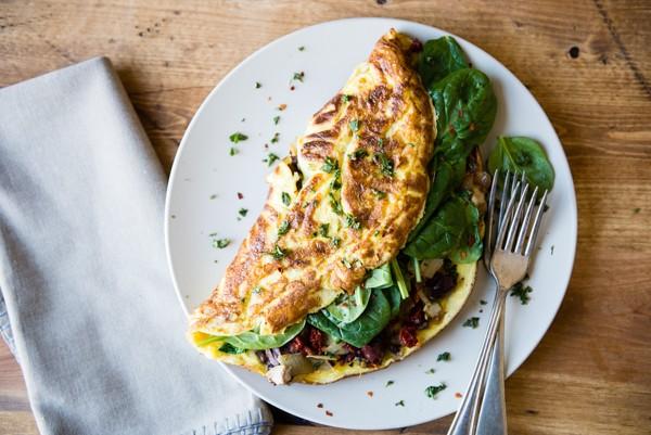 Mediterranean veggie omelete