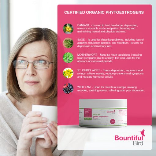 Bountiful Bird Phto Plus Natural Progesterone Cream with Organaic Phytoestrogens